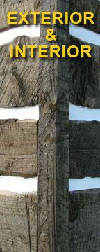 Weathered Log Cabin Siding Trim