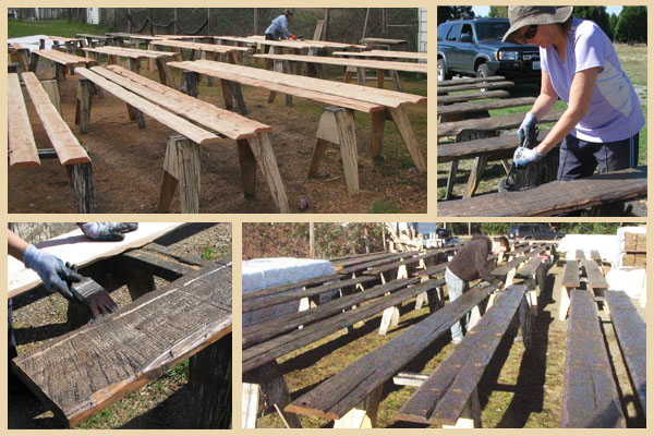 siding and beams staining process